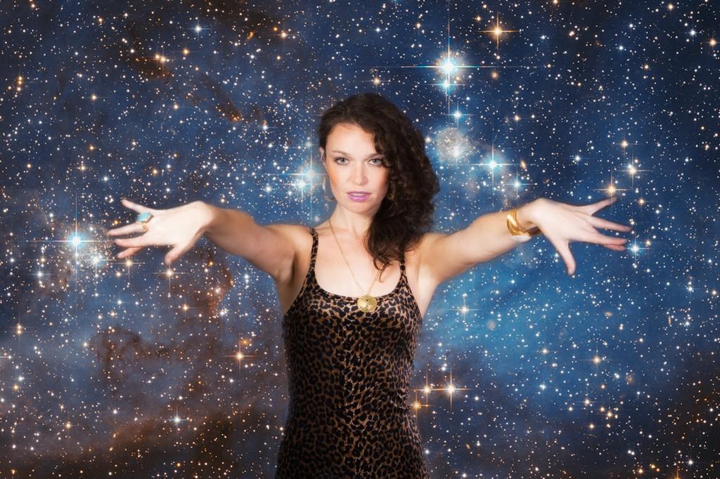 Sarah Linhares leopard cosmos